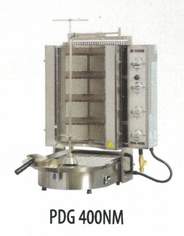 NASKONIX Gas Gyro Machine, 8-Burner, Wire Mesh PDG400NM