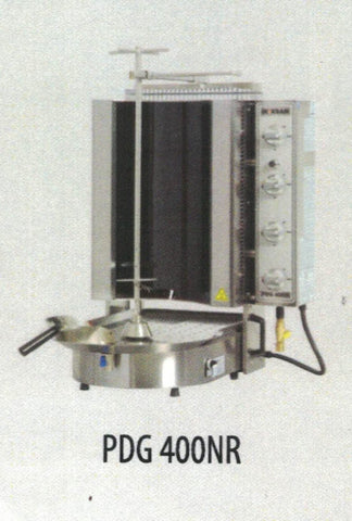 NASKONIX Gas Gyro Machine, 8-Burner, Robax Glass PDG400NR