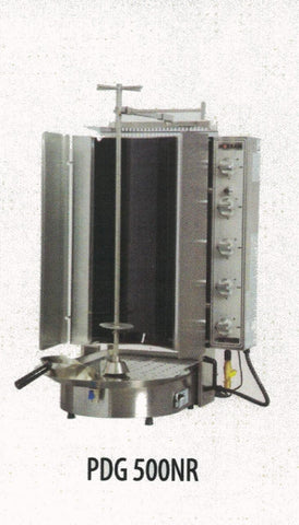 Gas Gyro Machine, 10-Burner, Robax Glass