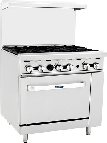 "ATOSA Range: 36-in Gas Range with 6-Burner and 26"" Oven - ATO-6B"