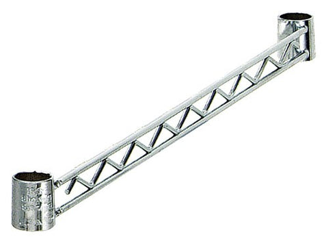 QUANTUM Hang Rails for Wire Shelving Kit, NSF, CHROME
