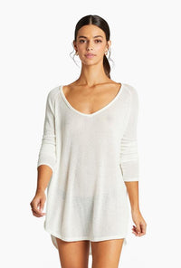 Drifter Beach Sweater - Creme | Vitamin A Swim