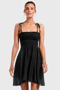Gigi Dress - EcoMuslin Black | Vitamin A Swim