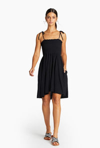 Gigi Dress - EcoCotton Black | Vitamin A