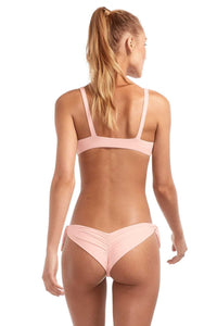 Light Pink Brazilian Cut Tie Side Bikini Bottom