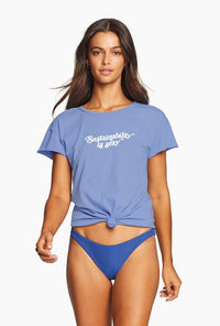 Sustainability is Sexy Tee - Sapphire | Vitamin A
