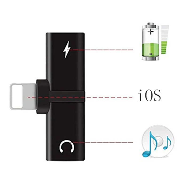 2-in-1 Audio + Charger Adapter
