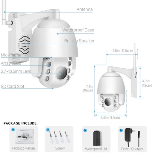 DigiEye™ Optical 5X Zoom Outdoor WiFi Camera
