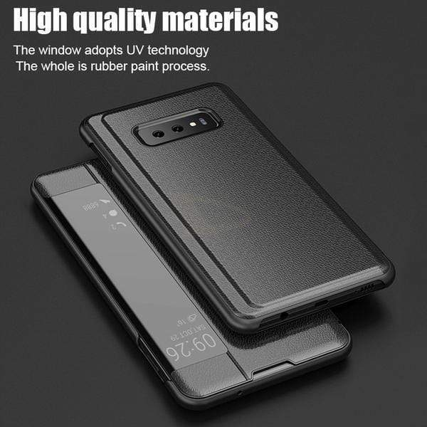 Luxury Shockproof Smart View Flip Leather Phone Case For Samsung Series