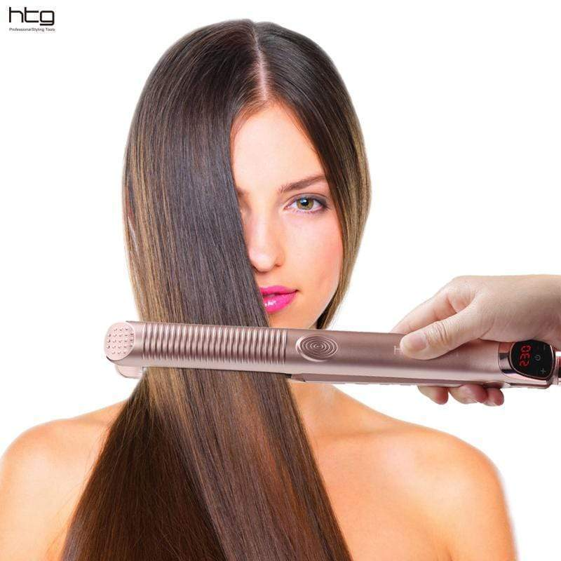 Professional 2-in-1 Hair Straightener + Hair Curler