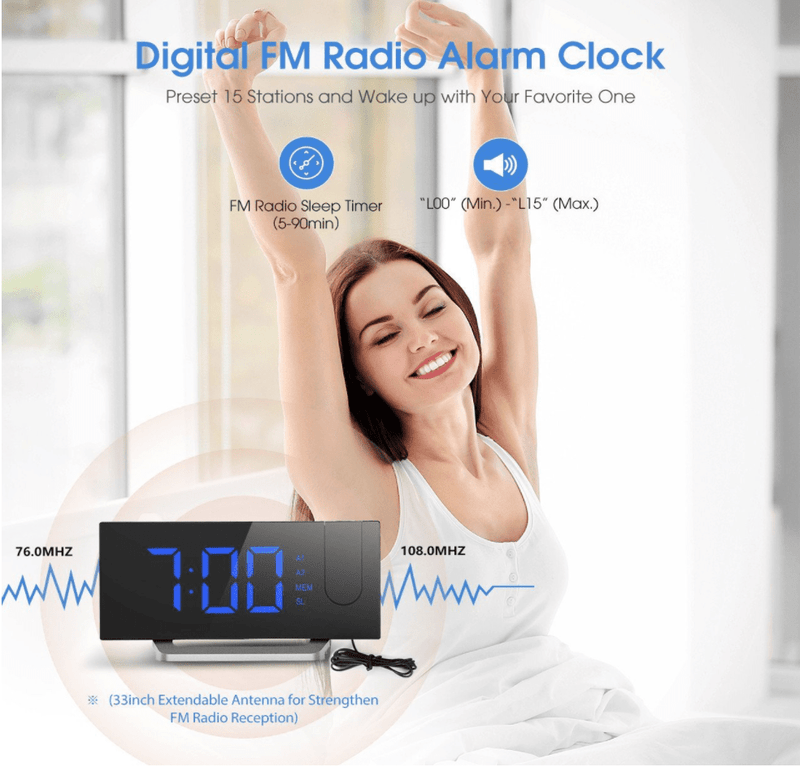 Radio Projection Alarm Clock