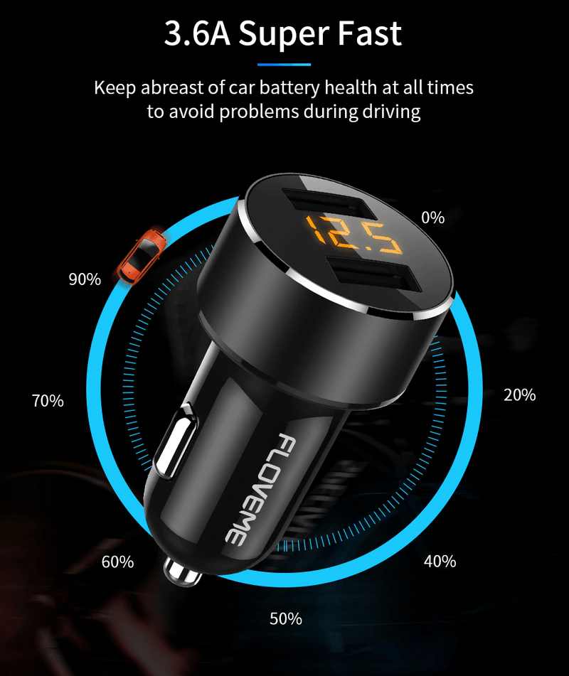 UltraMag 3.6A Dual Car Charger 2019
