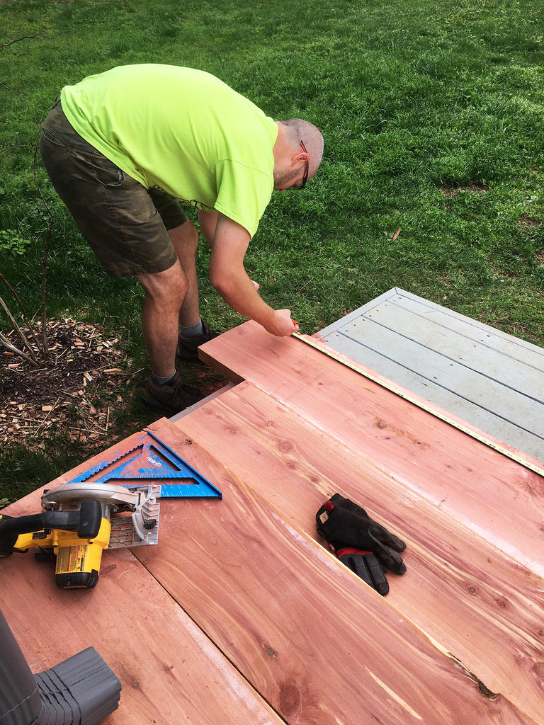 Measuring Cedar for Garden Beds