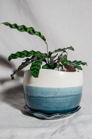 Handcrafted Blue Planter