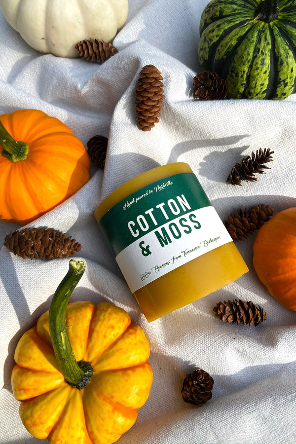 Roasted Pumpkin Beeswax Candle | Hand Poured