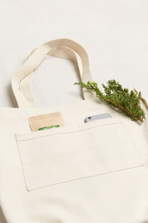 Cotton Tote with Pockets