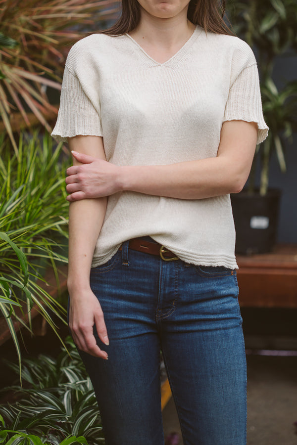 Organic Cotton Knit Tee