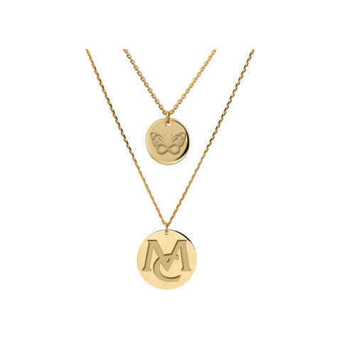MC Butterfly Gold Layered Necklace