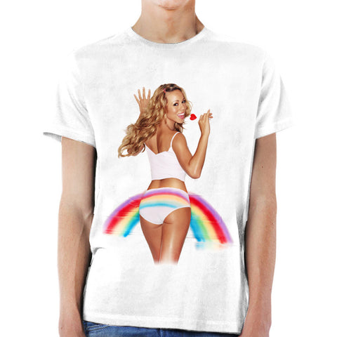 Lollipop Rainbow Pride White Tee