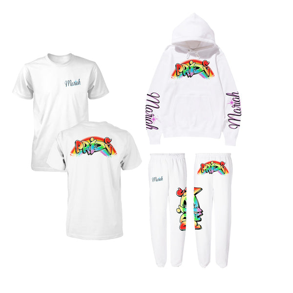 Pride Airbrush Graffiti Tee + Hoodie + Sweatpants Bundle