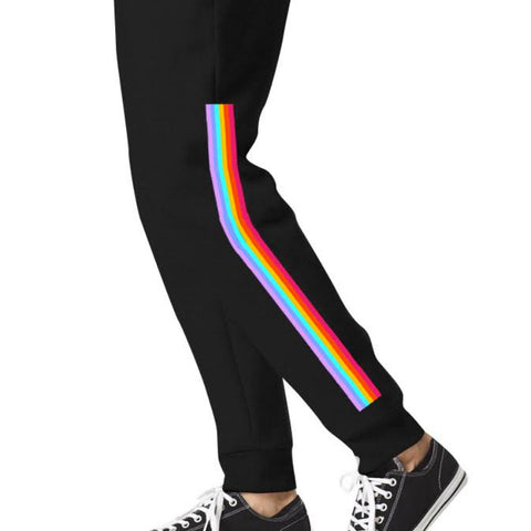 Neon Rainbow Pride Black Sweatpants