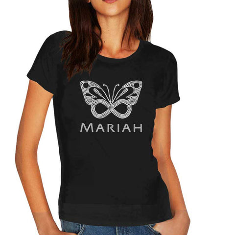 Silver Bling Butterfly T-Shirt