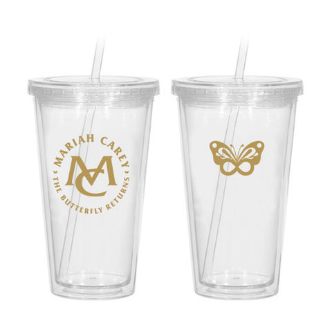 Butterfly Returns Gold Tumbler