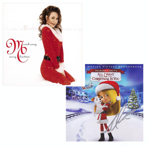 Mariah Carey Merry Christmas CD with Autographed Insert