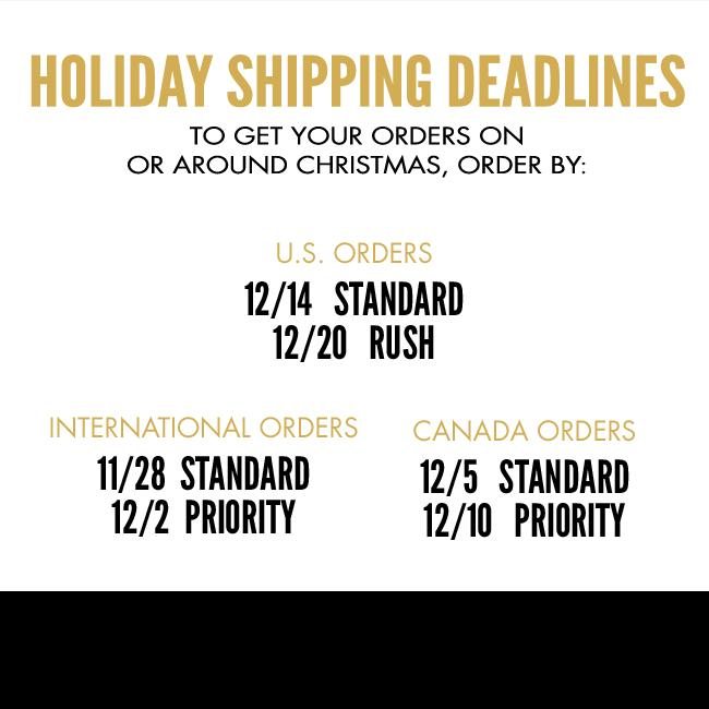 Shipping Deadlines for Mariah Carey Store