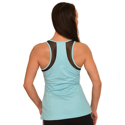 Hawaiian or Maori workout yoga racerback tank with mesh detailing