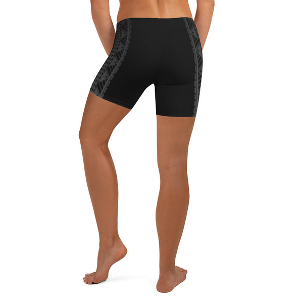 Kuahiwi Maunakea Style Samoan Polynesian Tattoo Pattern Print Women's Crossfit / Athletic Shorts