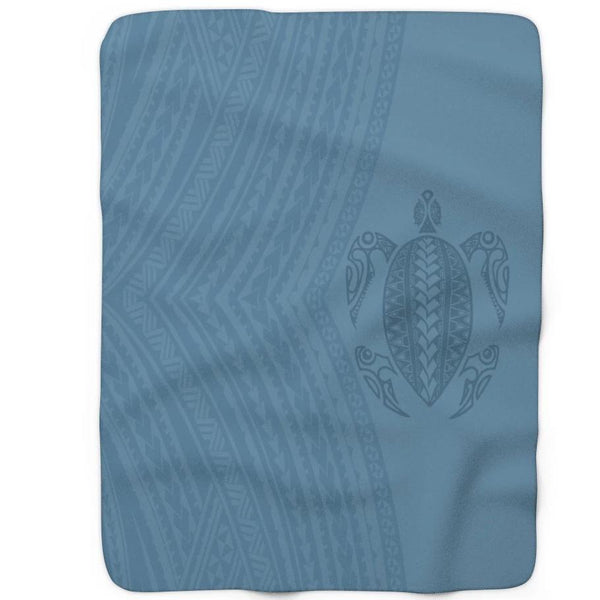 Honu Tattoo blanket blue