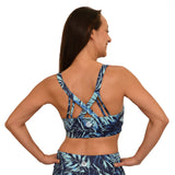 Hawaiian workout strappy bra removable cups