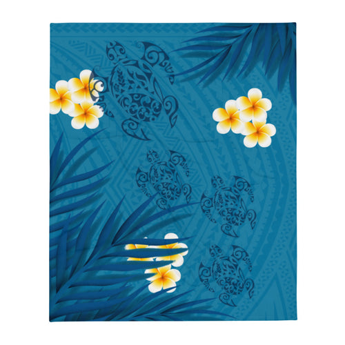 Polynesian tattoo throw