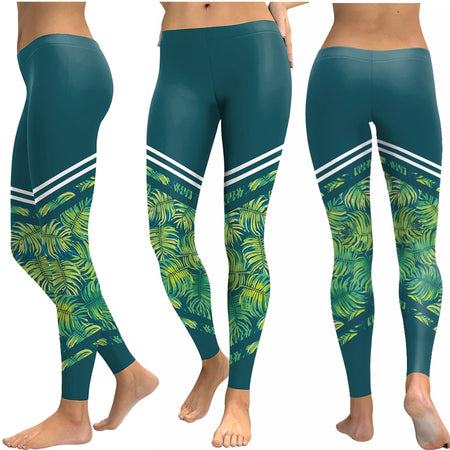 Malosi Long Yoga Pants - Maori Tattoo Design