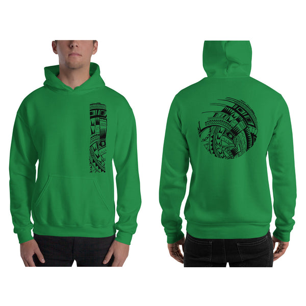 Green Polynesian Samoan tattoo Hawaiian Hooded Sweatshirt