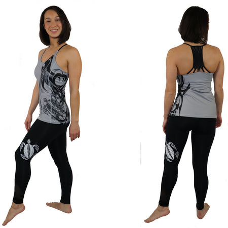 Wave Pattern Fitted Tank Top - 2 Lengths Available (Regular and Long)