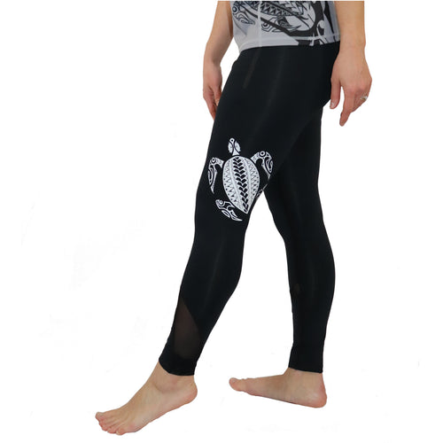 Honu Hawaiian Sea Turtle Tattoo Workout Set - Yoga Tank with Long Leggings