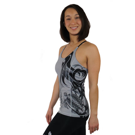Black Strappy Open Back Tank Top from the Aloha Collection