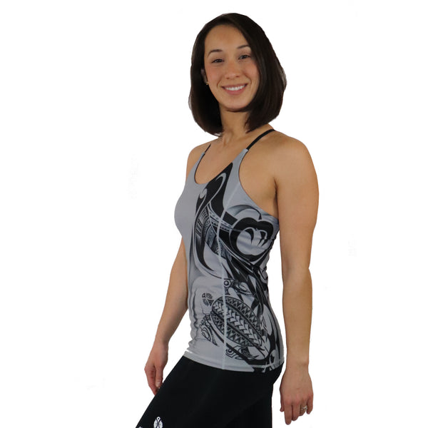 Honu yoga tank top with built in bra