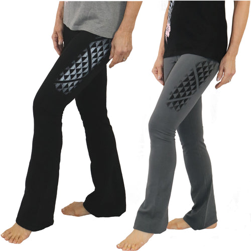 Samoan tattoo yoga pants boot cut leggings