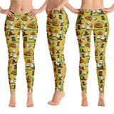 Hawaiian Halloween leggings