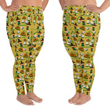 Hawaiian plus size leggings