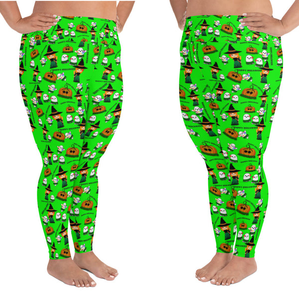 Lime plus size leggings