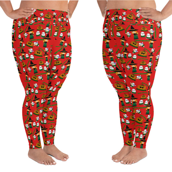 Halloween - Happy Hulaween Leggings up to size 6XL - 6 Color Choices & Regular or Wide Waistband