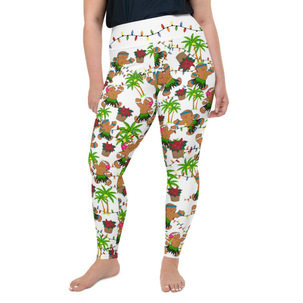 Christmas in Hawaii (Design 2) Leggings up to size 6XL - 4 Color Choices & Regular or Wide Waistband