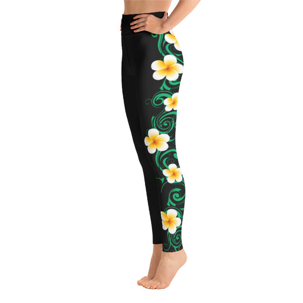 plumeria high waist leggings