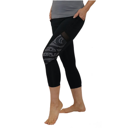 Malosi Samoan - Maori Fusion Tattoo Inspired Long Yoga Pants / Leggings