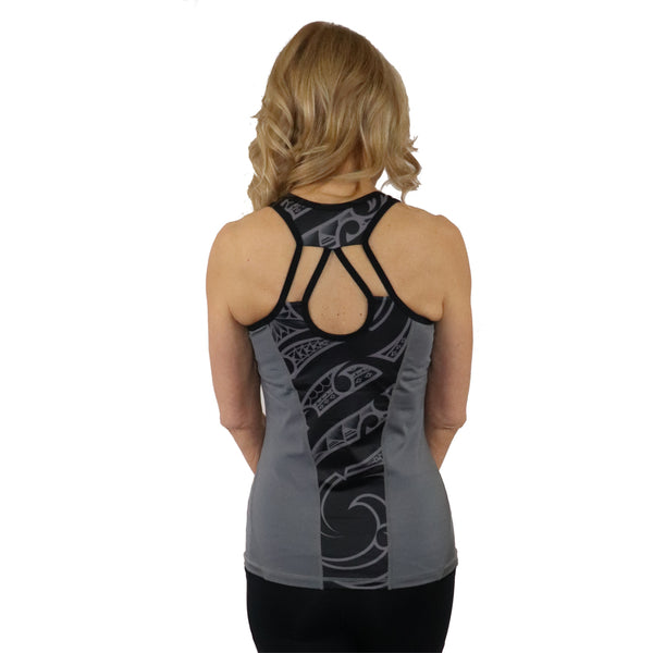 Hawaiian Polynesian tattoo strappy yoga tank top