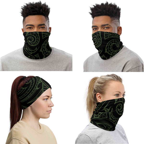 Maori Tattoo Neck Gaiter / Face Mask